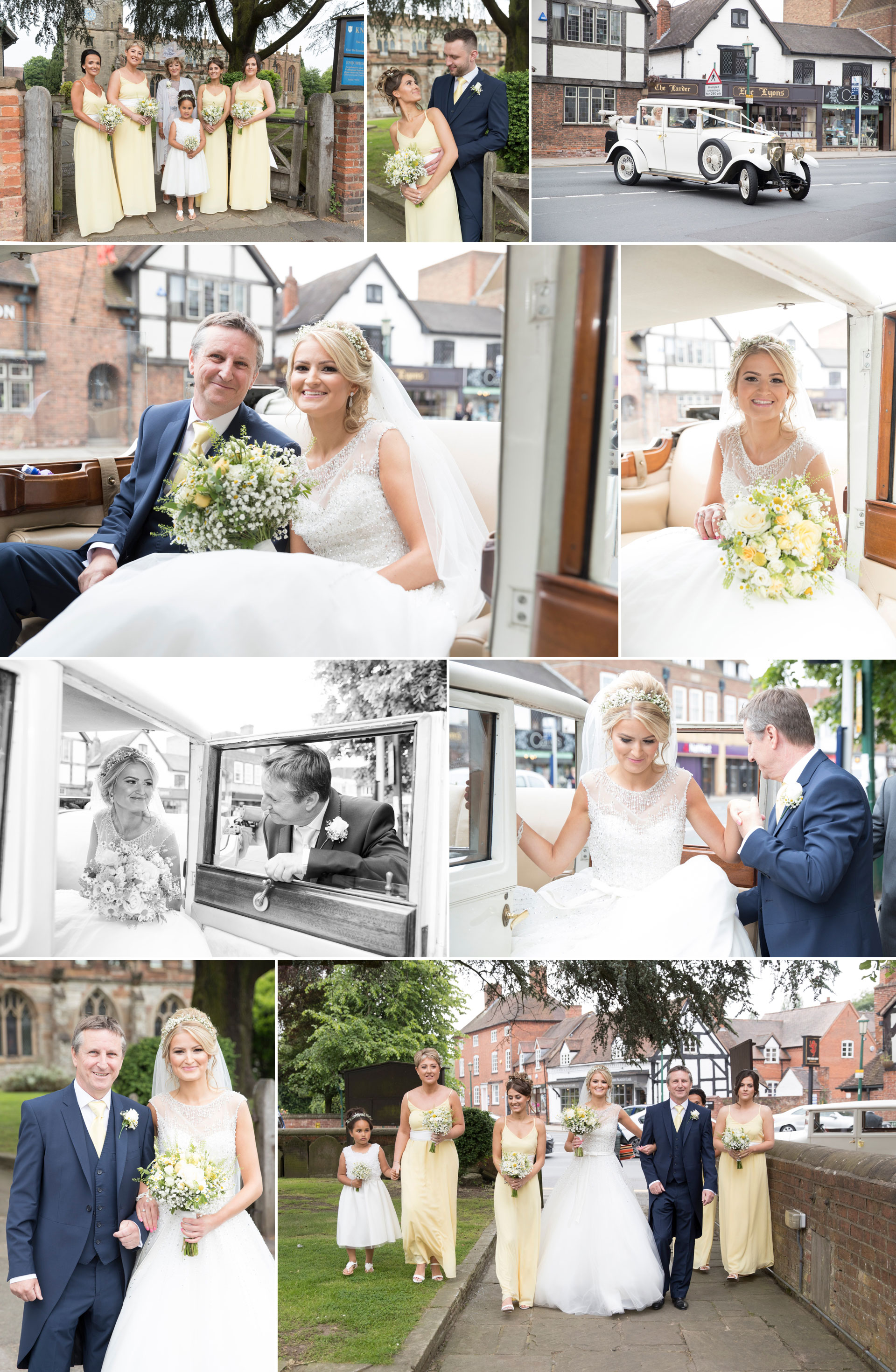 wedding photography at Knowle Church