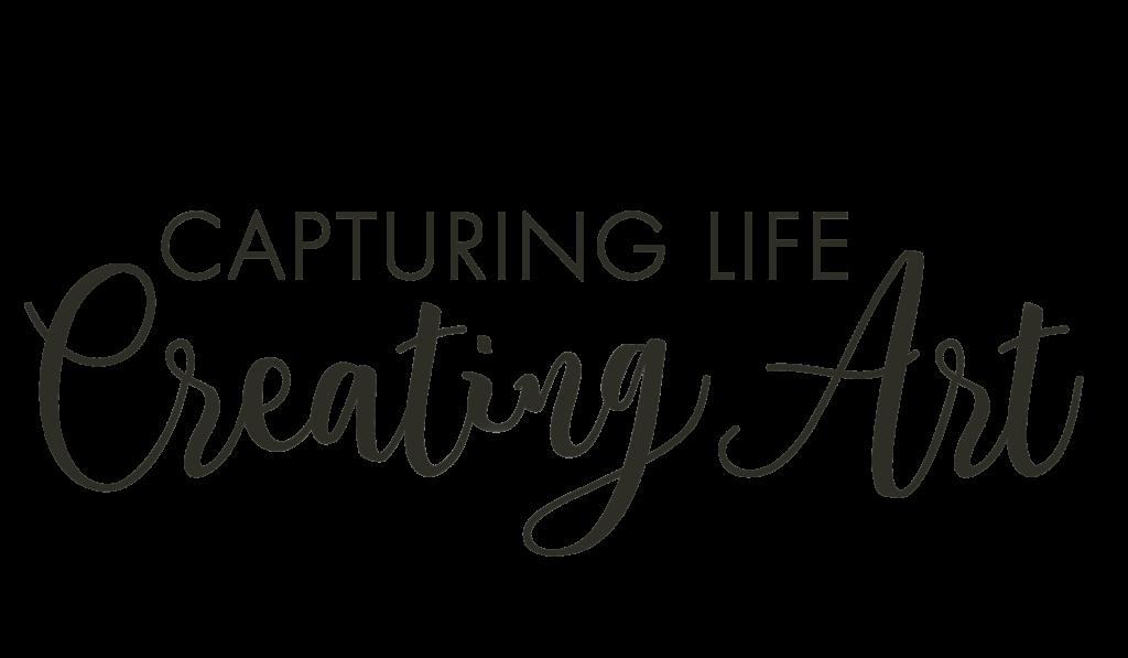 Capturing life creating art text design