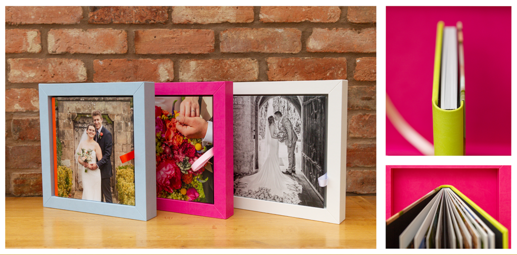 Examples of Victoria Jane photography's GoBook designed wedding books