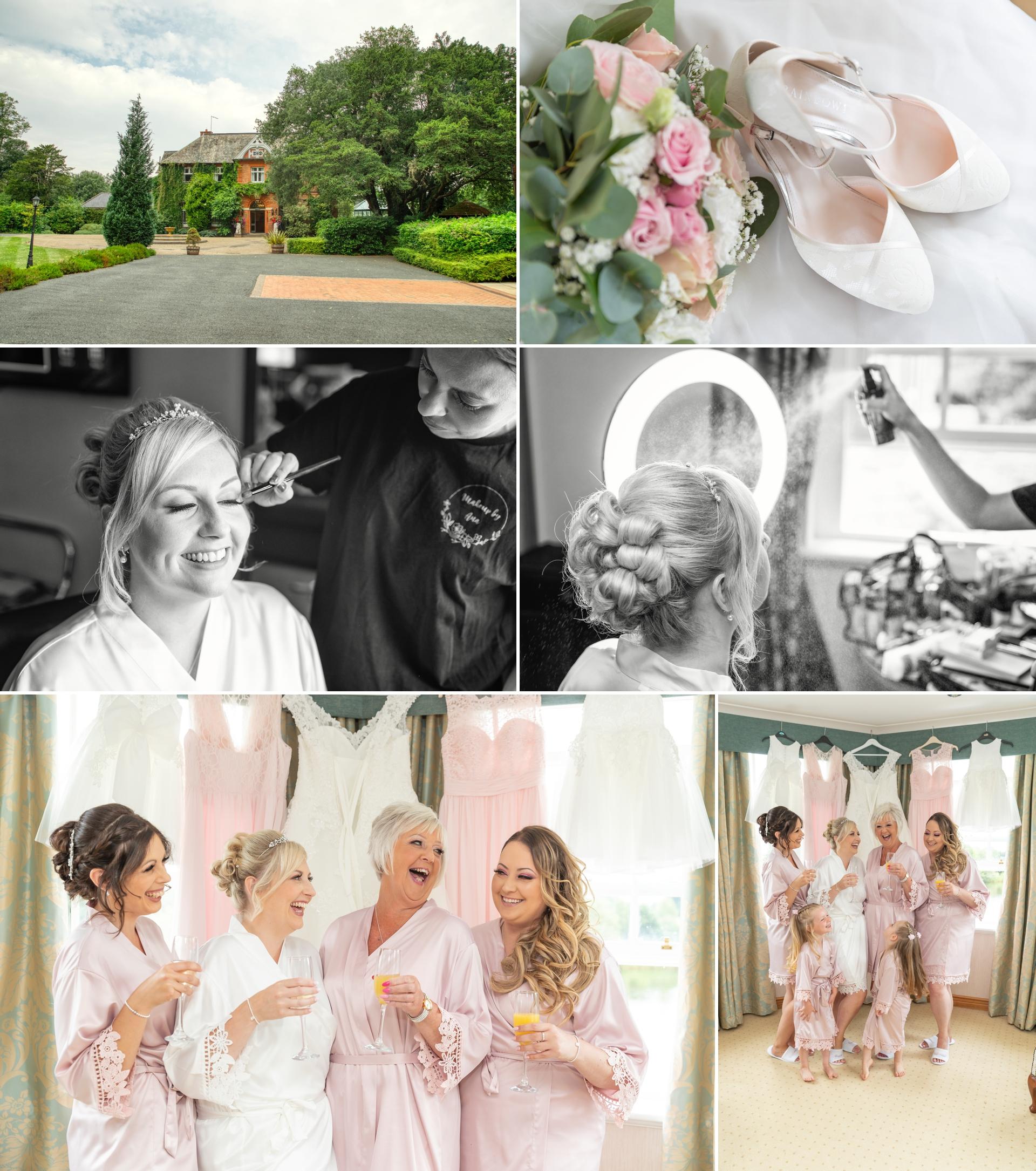 Bridal preparation at Ardencote manor