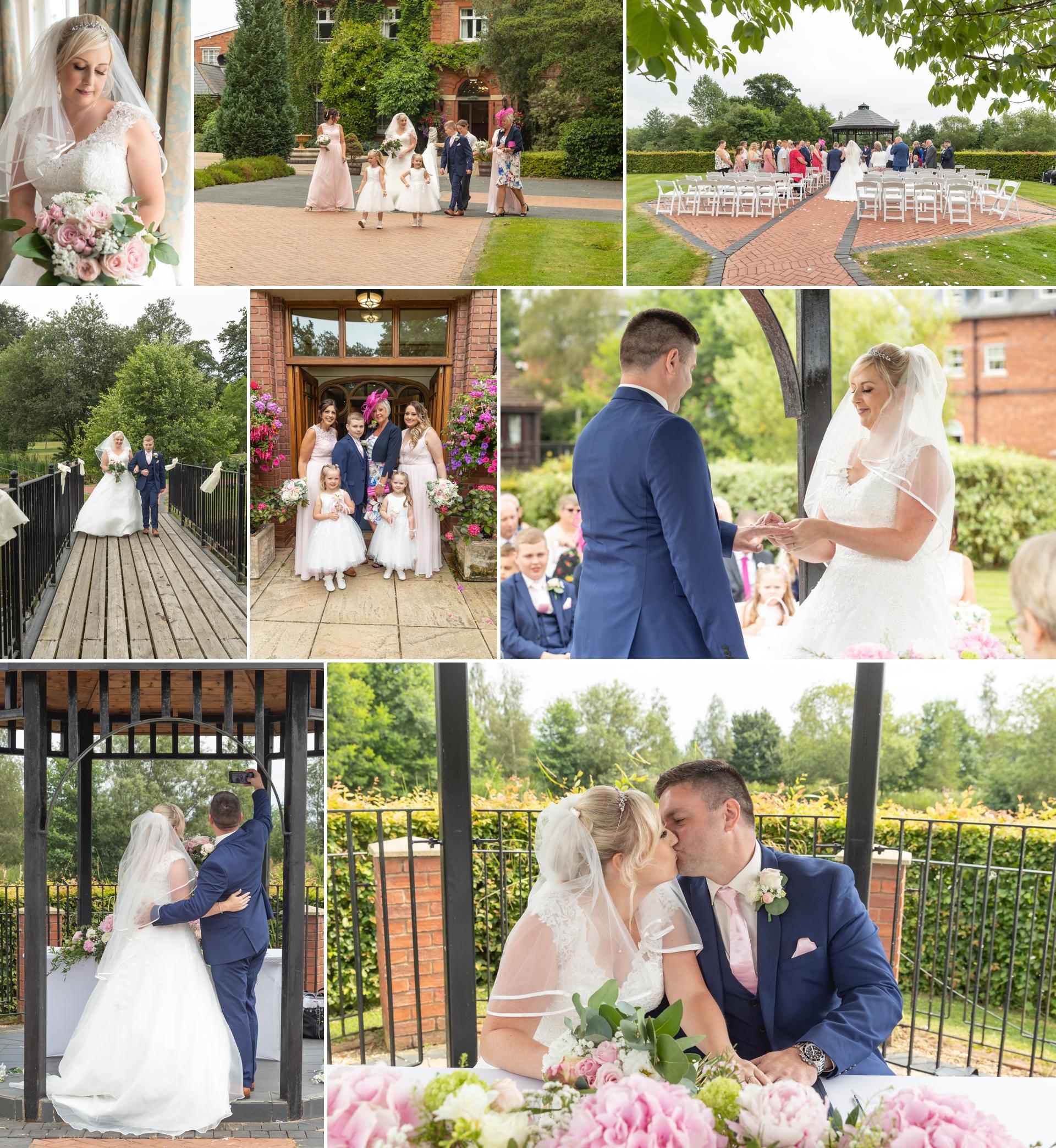 wedding ceremony at Ardencote Manor