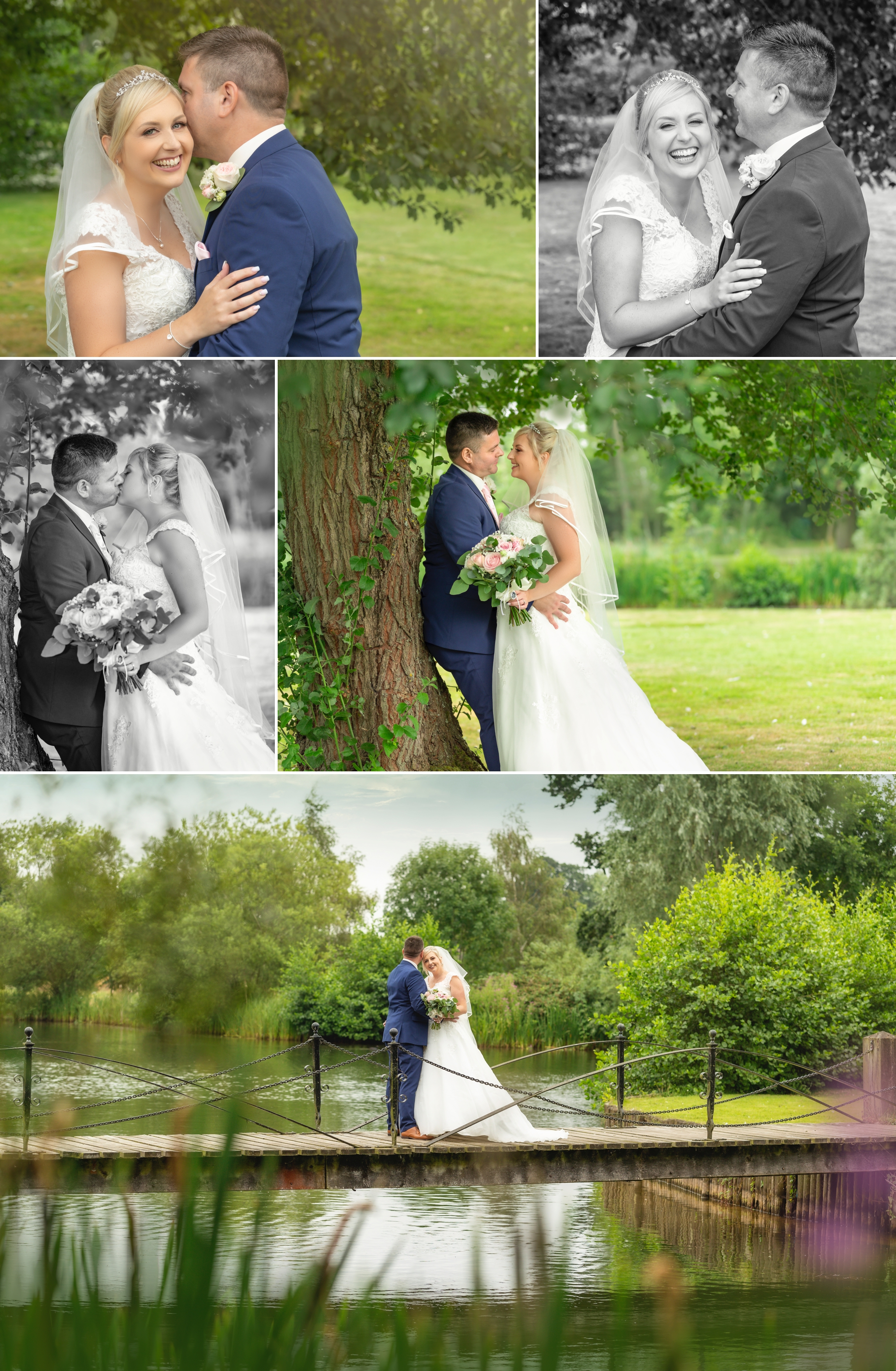 Beautiful bride & groom images from Ardencote manor
