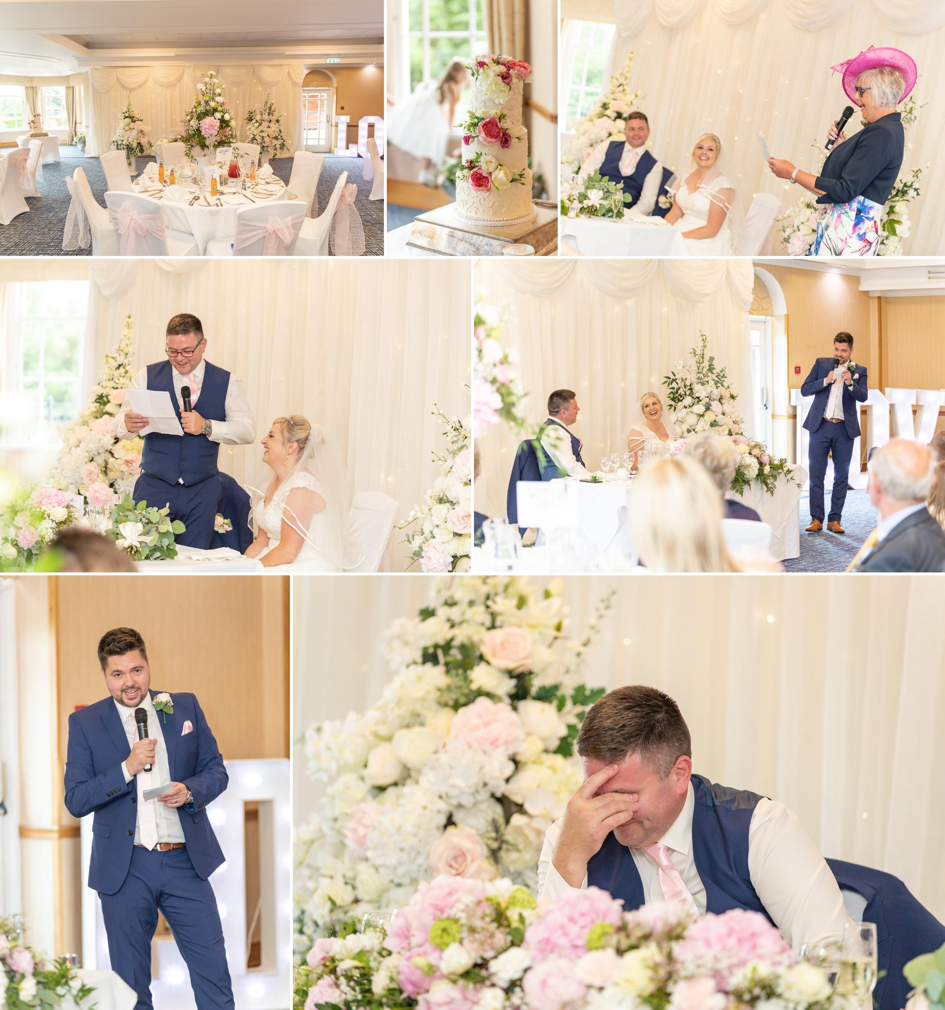 Speeches at Darren & Kerrys Ardencote Manor wedding
