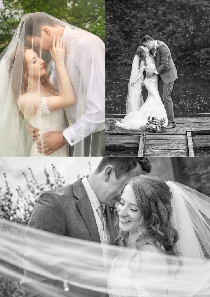 selection of beautiful bridal veil wedding photos
