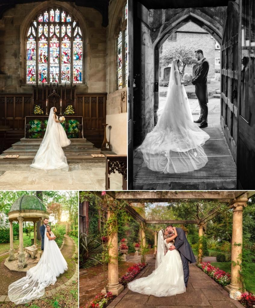 selection of beautiful bridal veil photos