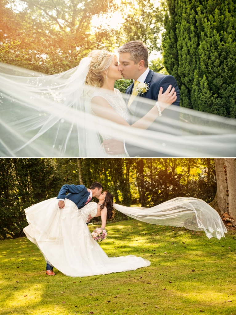 selection of beautiful wedding veil wedding photos